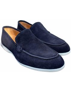 Alberto Bellini Suede boat loafer